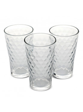 SET 6 VASOS ALTOS MODELO DIAMOND ALLEGRA