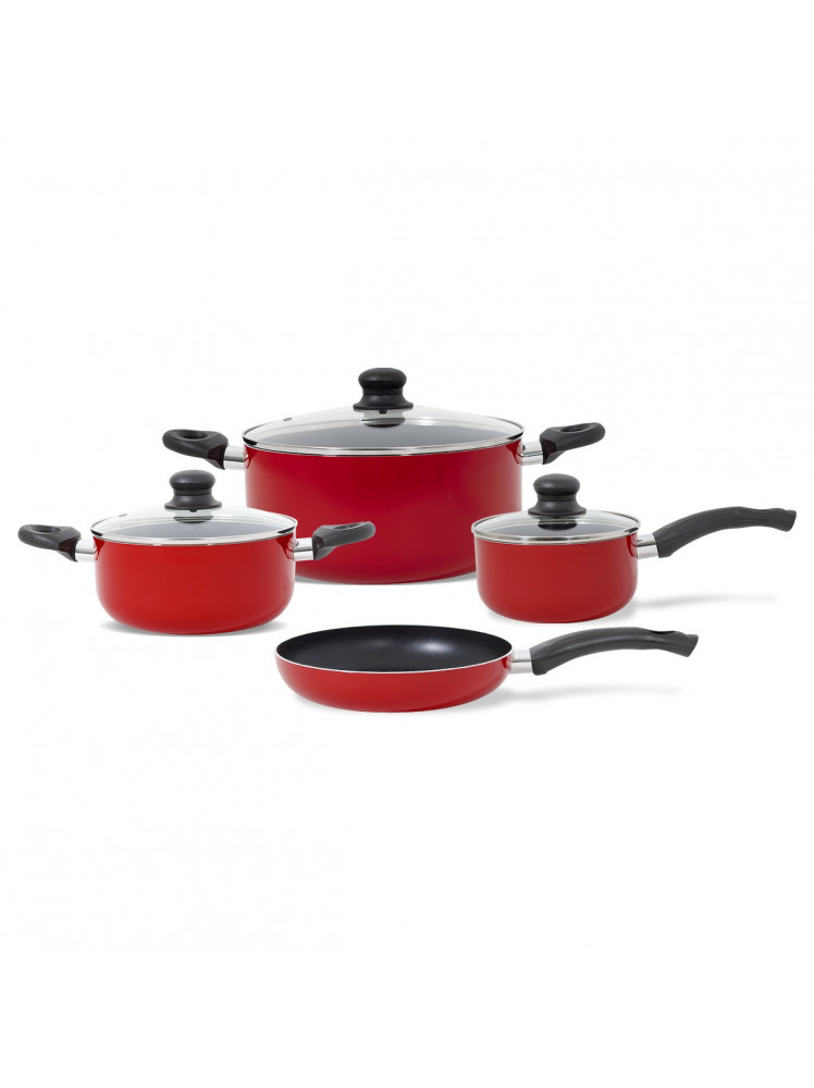 Batería de cocina 7 piezas Firenze roja