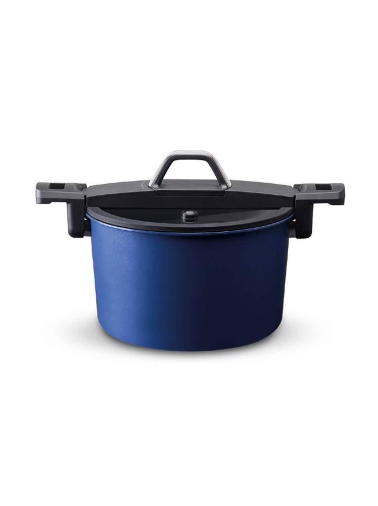Olla semi express azul 6 litros