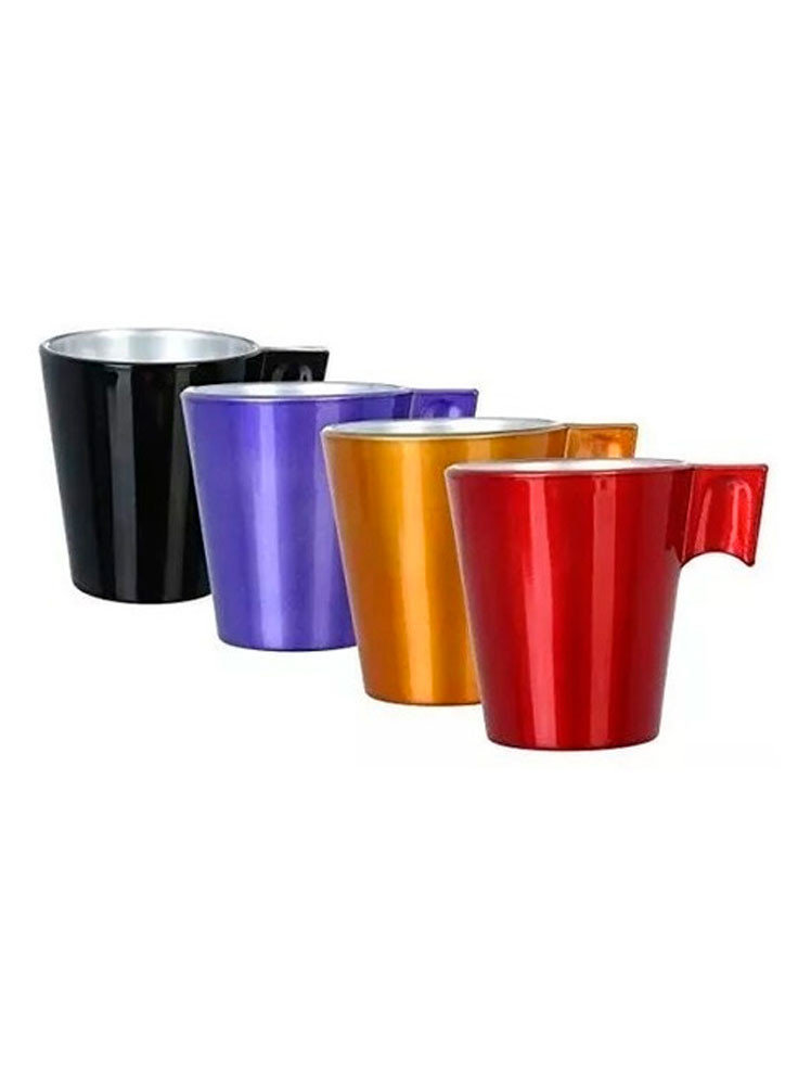 Set 4 tazas café colores 220 cc